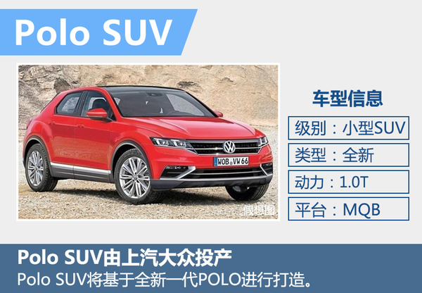 Polo也推家族化SUV车型 搭1.0T/由上汽投产(图2)