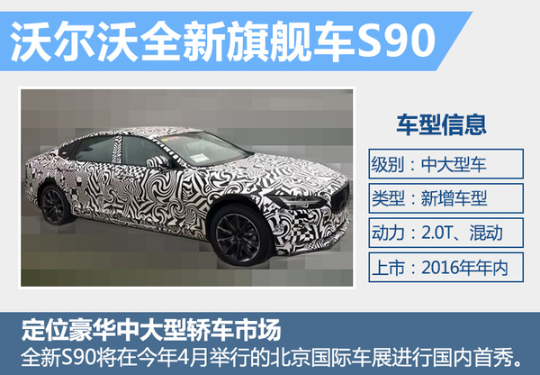 大咖来了 沃尔沃S90下月25日登陆中国迎首秀(图2)