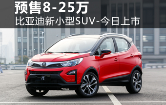 比亚迪新小型SUV-今日上市 预售8-25万