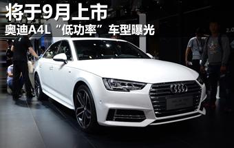 """奥迪A4L""""低功率""""车型曝光 将于9月上市"""
