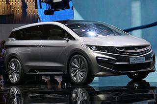 吉利MPV概念车亮相上海车展 科技感十足