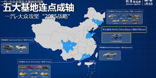 """五大基地连点成轴 一汽-大众攻坚""""2025战略"""""""