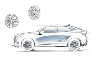 WEY VV7 GT Brabus design sketch exposed, will be available in May