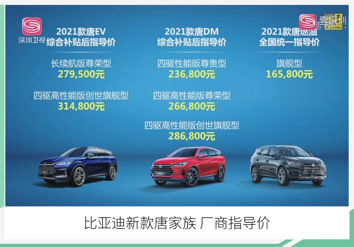 新款比亚迪唐正式上市 售16.58万-31.48万元